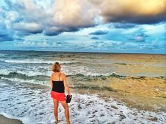 (Lanea Martin) Tags: ocean reflection beach beautiful mom florida shore