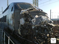 TGV Atlantique (rame 338). Accident de Caudos le 25.07.2014 (TchouTchou Papa Photography) Tags: france train french tren trem treno franais tgv trein francs atlantique franse francs francese     traduire