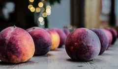 Rows of Peaches! (BGDL) Tags: kitchen fruit peaches kitchentable odc whatscooking nikond7000 bgdl lightroom5 afsmicronikkor40mm128g
