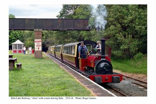 Bala. 'Alice' & train departing. 25.6.14