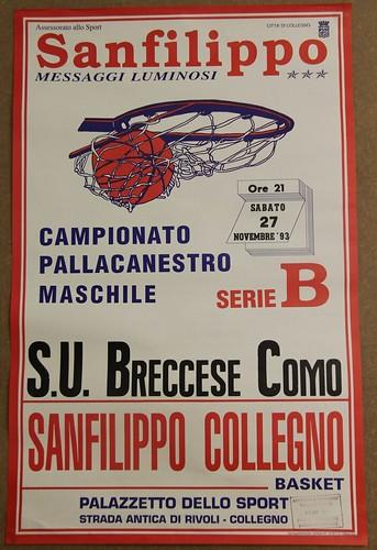 Manifesto Collegno Basket vs. Como - Serie B Maschile