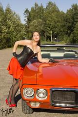 "Pontiac and ""girl"" (jannaheli) Tags: auto autumn girl beauty car fashion suomi finland women pontiac pinup jrvenp desing syksy fashiondesign tytt nainen kaunis muoti vaatesuunnittelu nikond3100"