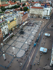 Zagreb - sa vidikovca Zagreb Eye (Milan Z81) Tags: city square town capital croatia zagreb grad viewpoint trg hrvatska vidikovac banjelai zagrebeye