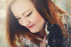 You make me smile (Creative Days) Tags: friends woman pets selfportrait cute love dogs smile norway tongue canon puppy happy pastel adorable scandinavia redhair