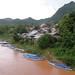 Boats on the Nam Ou river, Nong Khiaw, Laos