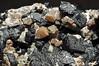 garnet var. andradite var. melanite, aragonite (géry60) Tags: morocco tazenakht ouarzazateprovince soussmassadraâregion bouazerdistrictbouazzerdistrict