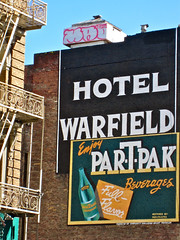 Hotel Warfield, San Francisco, CA (Robby Virus) Tags: sanfrancisco california brick sign wall hotel ghost warfield partpak