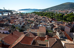 Trogir viewed from St Lawrence's Cathedral's bell tower, Trogir, Croatia (Miche & Jon Rousell) Tags: blue red sea coast rooftops cathedral turquoise croatia trogir adriatic dalmatia dalmatiancoast stlawrencescathedral