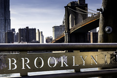 Brooklyn (King Grecko) Tags: city newyorkcity travel bridge sky usa newyork monument skyline architecture brooklyn america outdoors wire cityscape crossing unitedstates manhattan steel citylife dumbo landmark brooklynbridge newyorkstate viewpoint footpath suspensionbridge bigapple nycity manmadestructure urbanscene famousplace pedestrianwalkway steelcable elevatedwalkway travellocations flagcityscape