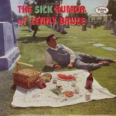The Sick Humor Of Lenny Bruce (Jim Ed Blanchard) Tags: strange graveyard vintage weird store funny comedy picnic basket album bruce tombstone humor kitsch lenny watermelon novelty jacket fantasy thrift cover ugly record comedian sick sleeve kooky
