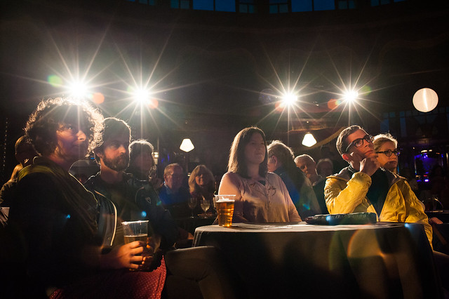 Attentive audience in our Guardian Spiegeltent