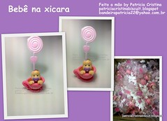 Beb na xcara (Feito a mo by Patricia Cristina) Tags: biscuit porta beb xcara nascimento ch recado