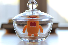 Mondays Feel Like (yellowdomokun) Tags: macro glass yellow canon bokeh domo jar domokun glassjar candyjar domonation yellowdomo yellowdomokun