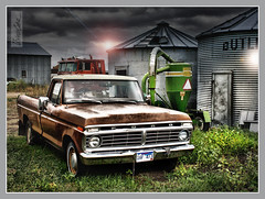 1977 Ford Truck (cobravictor) Tags: old light usa ford night truck vintage us classiccar automobile image americana 1977 hdr fordtruck
