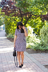 leopard dress, black bag, ferragamo pumps-2.jpg (LyddieGal) Tags: blackandwhite fall sunglasses fashion outfit dress style leopard wardrobe tjmaxx ferragamo wallis rayban thrifted ccskye weekendstyle marrincostello