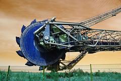 The hungry beast (kecal_2) Tags: germany mine mining excavator bucketwheel bucketwheelexcavator