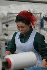 Worker Pyongyang Textile Factory (Ray Cunningham) Tags: workers factory north korea textile production pyongyang dprk coreadelnorte