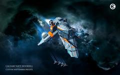 Caldari Hookbill Space shot (Brixnspace) Tags: eve ship lego space spaceship frigate moc caldari hookbill foitsop shiptember