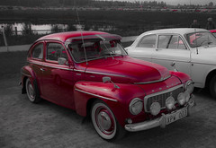 Swedish Red (J Strand) Tags: red classic car sport photoshop vintage volvo vintagecar meeting exhibition pv carshow 544 canoneos70d