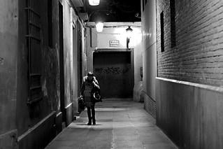 In dark