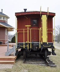 South Lyon, Michigan (7 of 8) (Bob McGilvray Jr.) Tags: southlyon michigan caboose wood wooden red cupola co chesapeakeohio railroad train tracks display public museum depot