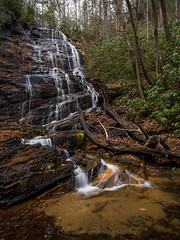 Horsetrough Falls (John Cothron) Tags: americansouth blairsville cpl cothronphotography distagon2128ze distagont2821ze dixie georgia horsetroughfalls horsetroughmountain johncothron southatlanticstates southernregion thesouth us usa unioncounty unitedstatesofamerica zeissdistagont2821ze afternoonlight circularpolarizingfilter clouds cloudyweather cold deadtree falling flowing landscape leaves longexposure lowwaterlevel mountain nature outdoor rock scenic water waterfall winter img16172170227 ©johncothron