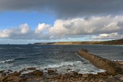England 333 Sennen cove rainbow (Pixelkids) Tags: sennencove cornwall cornishcoast uk england beacg strand meer regenbogen rainbow clouds