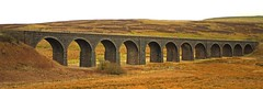 Dandry Mire railway viaduct winter time. (Dave Russell (1.5 million views thanks)) Tags: rail railway railroad arch arches 12 twelve stone carlisle settle dandry mire cumbria moorcock garsdale england uk outdoor architecture structure engineering victorian travel tourism scene scenery view vista landscape land dales yorkshire hill hills winter