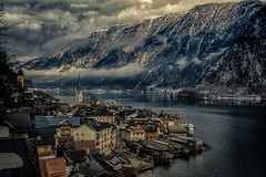 View from Above (mcalma68) Tags: hallstatt austria mountains winter snow clouds landscape seascape lake architecture authentic