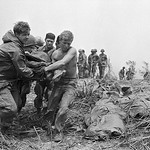 Vietnam War 1968 - Soldiers Carrying Bodies to Helicopters near Khe Sanh thumbnail