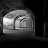 Portal (Scott Holcomb) Tags: fortpoint ggnra sanfrancisco california kowasix kowa13555lens kodaktmax400 improvisedtripod bw 6x6 120film mediumformat epsonperfectionv600 photoshopdigitalization