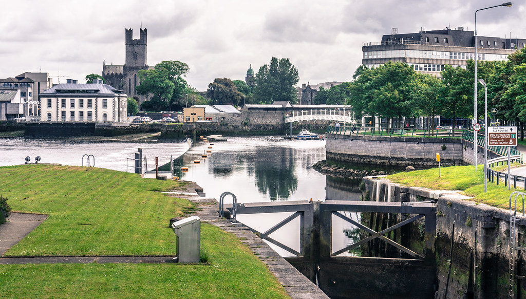 A View From Sarsfield Bridge In Limerick