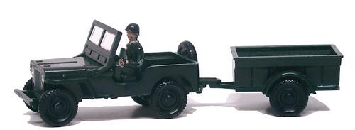 Siku Jeep con rimorchio