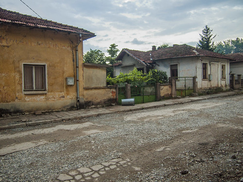 Near the center of Bistrec village