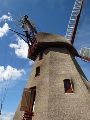 Havnbjerg mlle (Landanna) Tags: blue sky bw mill denmark blauw himmel lucht dnemark danmark als hemel molen bl mlle snderjylland zuidjutland havnbjerg havnbjergmlle