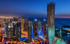 Rising High (Dany Eid) Tags: life city nightphotography tower night marina landscape high nikon dubai cityscape skylines filter nd bluehour mydubai