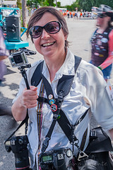 The Well-Prepared Photographer (Dennis Valente) Tags: seattle camera summer usa art washington photographer fremont parade fac 2014 solsticeparade fremontsummersolsticeparade artisticexpression fremontartscouncil goprohero camerastraps