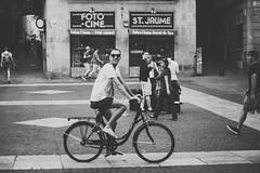 A nice cyclist (Irene Ruscalleda) Tags: street urban bike photography calle cyclist bicicleta ciclista urbano callejero