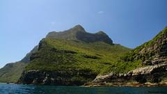 Looking Over an Unknown Rock Outcrop to Mt Lidgbird - Lord Howe Island Circumnavigation (Black Diamond Images) Tags: mountains island boat paradise australia cliffs nsw reef boattrip circumnavigation lordhoweisland worldheritagearea mtlidgbird thelastparadise circleislandboattour