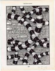 she was always wondering (Jo in NZ) Tags: blackandwhite drawing foundtext foundpoetry zentangle nzjo zendoodle