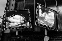 Cloud Mirrors (gambajo) Tags: street sky blackandwhite reflection clouds dark mirror blackwhite mirrors dramatic skyporn phonar phonarnation
