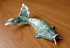 Dollar Origami Carp ($ craigfoldsfives) Tags: money origami dollar moneyorigami dollarorigami craigfoldsfives craigsonnenfeld