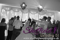 Andrew & Lauren McCambridge - Hellaby Hall - Black & White  Wedding Photos by Sheffield Wedding DJ 0007