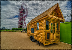 at Queen Elizabeth Olympic Park - London (SUPΣ®MΛN™) Tags: wood uk bridge blue light england sky house green london art texture nature water roy architecture clouds photoshop canon landscape nikon tokina imaging nik olympic woodenhouse hdr highdynamicrange hdri lightroom londonist photomatix supershot photomatrix highdynamicrangeimaging niksoftware olympicarena d7000 mygearandme cloudsstormssunsetssunrises queenelizabetholympicpark tuangco