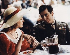 godfatherkayeandmichael (chuckmaland) Tags: food color table drink crime filmstill drama pitcher mafia pearlnecklace militaryuniform largehat redpolkadotdress widebrimmedhat