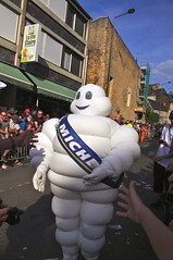 Michelin Man (Dave Hamster) Tags: man racing parade endurance michelin lemans motorracing fia motorsport 24hours michelinman autosport 2014 wec driversparade enduranceracing lemans24hours worldendurancechampionship