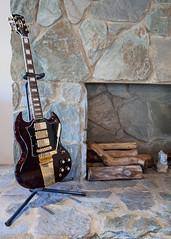 (deanmackayphoto) Tags: stone fireplace guitar livingroom captain renovation custom decor gibson interiordesign
