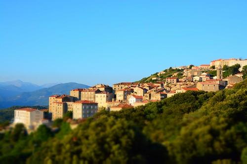 Sunset view on Sartène (Corsica, France 2014)