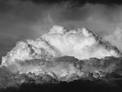 Califlower or whipped cream? (jimsawthat) Tags: blackandwhite clouds rural colorado monsoon montrosecolorado