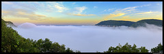 Panorama vue sur la ville de Millau (Artiste/Photo) Tags: city blue sky cloud mountain france montagne landscape photo nikon view image picture free bleu ciel nuage paysage arbre blanc vue ville millau d800 larzac aveyron midipryne